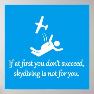 Skydiving ist nicht für Sie - sarkastische Poster