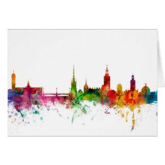 Skyline Stockholms Schweden Grußkarte