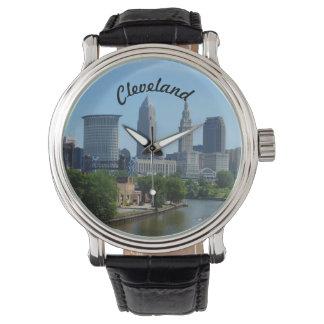 Skyline-Uhr Clevelands, der Ohio Armbanduhr