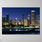 Skyline von im Stadtzentrum gelegenem Chicago nach Poster