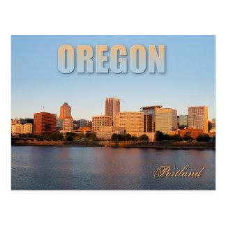 Skyline von im Stadtzentrum gelegenem Portland, Postkarte