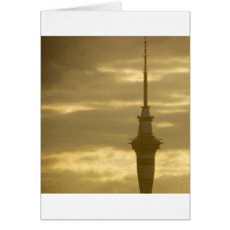 Skytower am Sonnenuntergang Karte