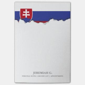 Slowakei-Flagge Post-it Haftnotiz