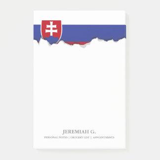 Slowakei-Flagge Post-it Klebezettel