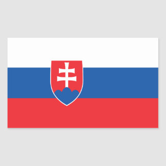 Slowakei-Flagge Rechteckiger Aufkleber