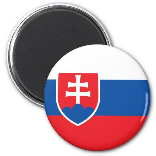 Slowakei-Flaggen-Magnet Kühlschrankmagnete