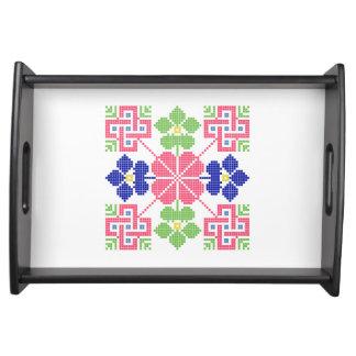 Slowakeivolksmotiv-Symbol traditionelles Tablett