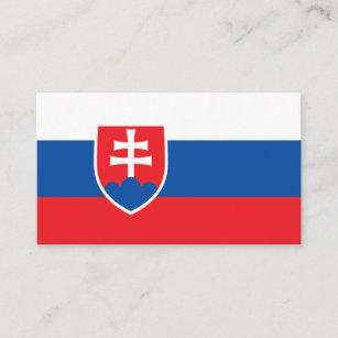 Slowakische Flagge, Flagge von Slowakei Visitenkarte