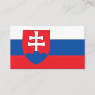 Slowakische Flagge u. Wappen, Flagge von Slowakei Visitenkarte