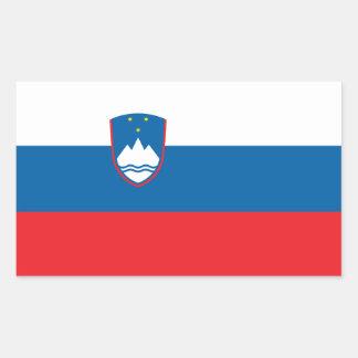 Slowenien-Flagge Rechteckiger Aufkleber