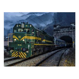 Slowenien/Österreich: Diesel an der Grenze tunell. Postkarte