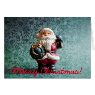 Small Santa Claus figure Karte