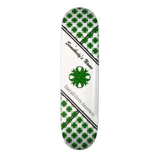 Smaragdgrün-Klee-Band durch Kenneth Yoncich 20,1 Cm Skateboard Deck