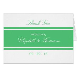 Smaragdgrün-moderne Hochzeit danken Ihnen Karte