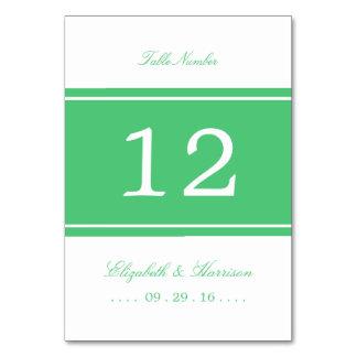 Smaragdgrün-moderne Hochzeits-Tabelle nein Karte