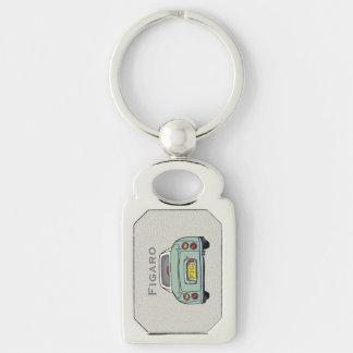 Smaragdgrün-Nissan Figarokundenspezifischer Schlüsselanhänger