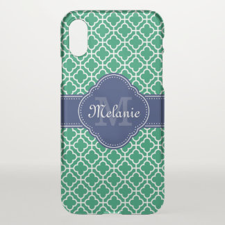 Smaragdgrün-weißes marokkanisches iPhone x hülle