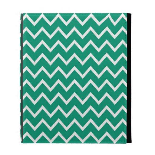Smaragdgrün Zickzack iPad Fall