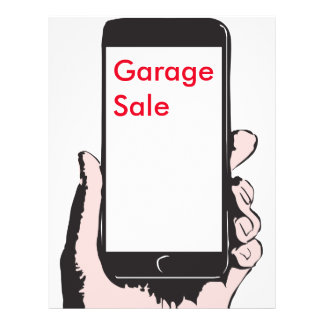 Smartphone-Yardverkauf 21,6 X 27,9 Cm Flyer