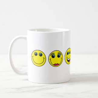 Smiley-Charaktere Tasse