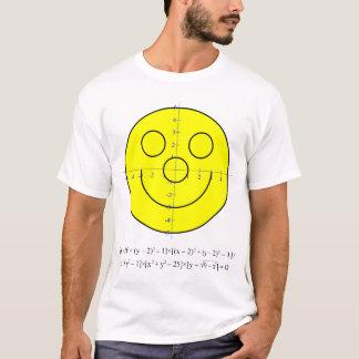 Smiley-Gleichungs-Shirt der Männer T-Shirt
