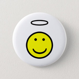 Smiley-Halo Runder Button 5,7 Cm