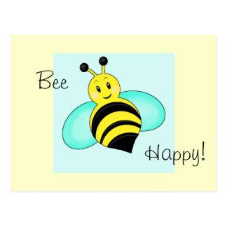 """Smiley-Hummel """"Bienen-glückliche"""" Postkarte"""