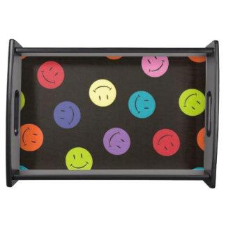 Smiley - mehrfarbig serviertablett