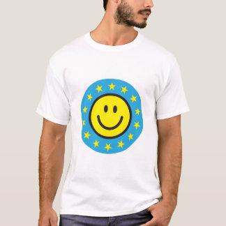 Smiley mit Gelbsternen - Blau T-Shirt