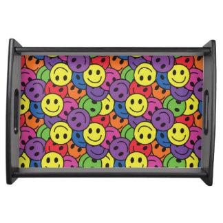 Smiley-Retro Hippy Muster Serviertablett