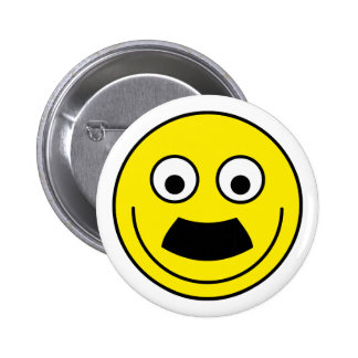 Smilie Schnurrbart smiley moustache Runder Button 5,1 Cm