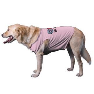 Smily Gesicht (seien Sie glücklich), *Dog Rosa Ärmelfreies Hunde-Shirt