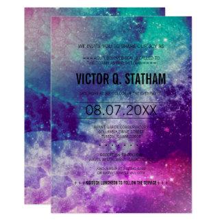 Smokey Galaxie-Bar Mitzvah Party laden ein 12,7 X 17,8 Cm Einladungskarte