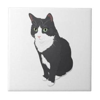Smokings-Katze Kleine Quadratische Fliese