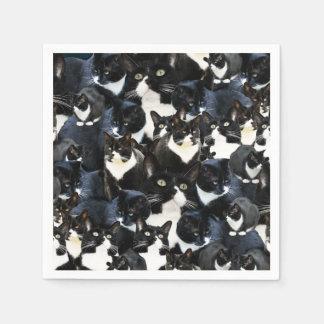 Smokings-Katzen-Verrücktheit Papierserviette