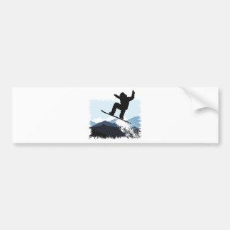 Snowboarder Action Jump Autoaufkleber