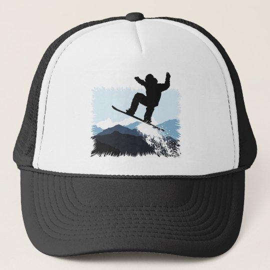 Snowboarder Action Jump Truckerkappe