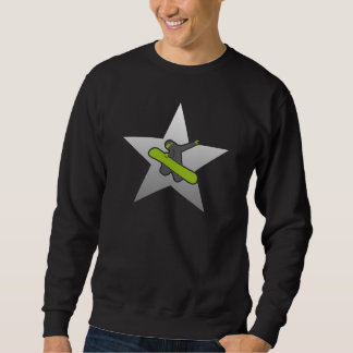 Snowboarder Best Star reflected Sweatshirt