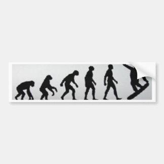 Snowboarder-Evolution Autoaufkleber