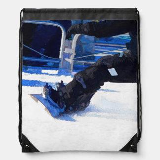 Snowboarder-rutschendes Winter-Sport-Geschenk Turnbeutel