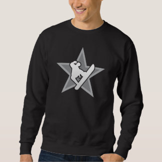 Snowboarder Star v2 dark reflected Sweatshirt