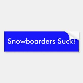 Snowboarders sind zum Kotzen! Autoaufkleber