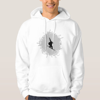 Snowboarding-Gekritzel-Art Hoodie