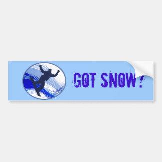 Snowboarding u. Schneeflocken Autoaufkleber