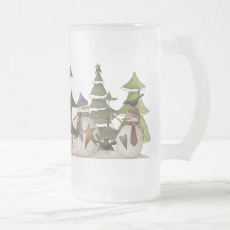 Snowman-Chat Mattglas Bierglas
