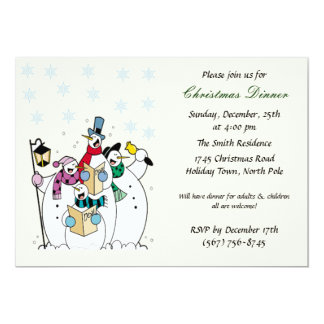 Snowman-WeihnachtsParty Einladungen