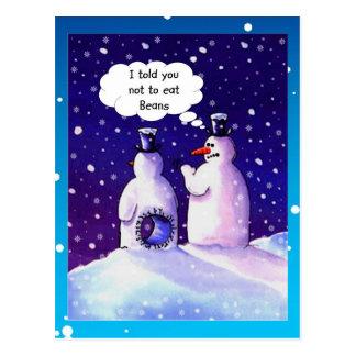 Snowmen-Spaß Postkarte