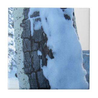 Snowy-Bäume Keramikfliese