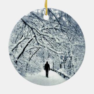 Snowy-Einsamkeit Keramik Ornament