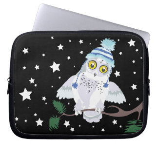 Snowy-Eule mit Hat~ Laptopkasten Laptop Sleeve